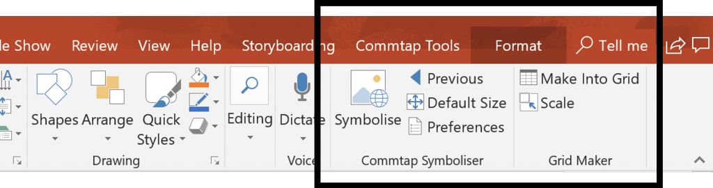 Commtap Symboliser for PowerPoint - Commtap Symboliser
